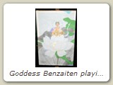 Goddess Benzaiten playing her biwa