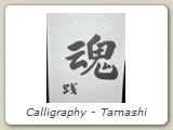 Calligraphy - Tamashi