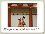 Stage scene at bonbori festival