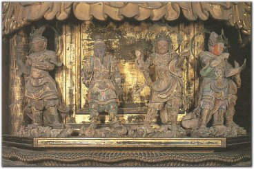 Panel Showing some of the 12 Generals beneath Yakushi Nyorai, Toji Temple, Kyoto, courtesy healing-touch.co.uk