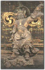 Panel Showing one of the 12 Generals beneath Yakushi Nyorai, Toji Temple, Kyoto, courtesy healing-touch.co.uk