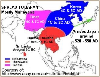 Spread of Mahayana to Japan