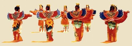 Illustration - Karyoubinga's Winged Costume in Bugaku Dance