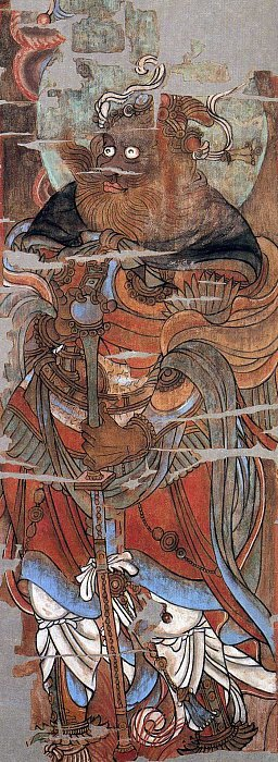 Komokuten-Virupaksa-painting-from-hidden-library-cave-dunhuang-china-KMT-page