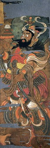 Shitenno-Tamonten-Vaisravana-painting-from-hidden-library-cave-dunhuang-china1