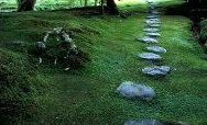 Stepping stones in the Zen Garden of Saiho-ji Temple, Kyoto, Japan; Photo by Frantisek Staud