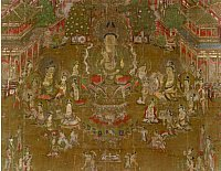 Tosotsuten Mandala devoted to Miroku and Depicting the Tusita Heaven