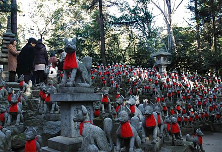 Toyokawa Inari Shrine -- Fox Statues