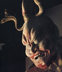 Agyou Closeup, Clay, Houryuuji Temple, Namra Era