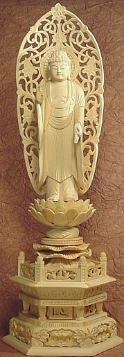 Amida Buddha standing atop a lotus -- available for online purchase