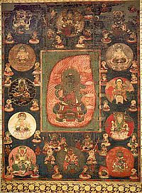 Fudo & 12 Celestials Mandala - Served as an Anchin Mandala at Nagato Kokubunji Temple