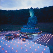 Lighting Ceremony for the Respose of Dead Souls, Showa Daibutsu, Seiryuu-ji Temple, Aomori