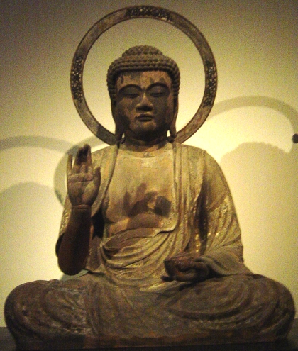 Ashuku Buddha Statue, Treasure of Kakuonji Temple, Kamakura, 1322 AD, carved by Inko