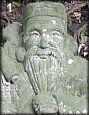 Fukurokuju Closeup - God of Longevity, Stone Statue, Early Showa Era