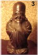 Fukurokuju - God of Fortune, Happiness, and Longevity, Bizen Ceramic, Meiji Period, in the collection of Robert Yellin