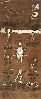 Shogun Jizo with attendants (including Shoteki Bishamon)