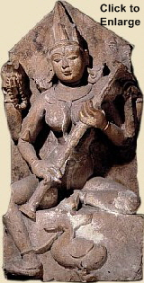 Sarasvati, 10th century, British Museum