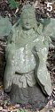 Benzaiten playing the biwa, stone statue, Early Showa era