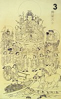 Uga Benzaiten Drawing (includes Bishamon as attendant)