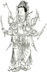 Happi Benzaiten drawing from the 12th-century Besson Zakki