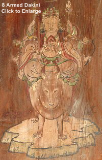 Eight (8) Armed Dakini, a manifestation of Happi Benzaiten