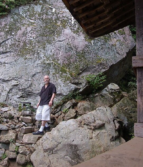 Mark Schumacher at Golden Rock, Hiezan (near Kyoto), May 2012