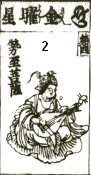Kinyosho -- a star deity with similar iconography as Benzaiten