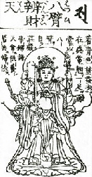Happi Benzaiten drawing from the 1783 Butsuzo-zui