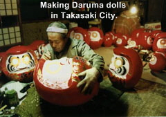 Making Daruma in Takasaki City