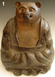 Tanuki dressed as a monk