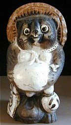 Ceramic Tanuki from Taisho Era (1912-1926). Photo from www.jcollector.com