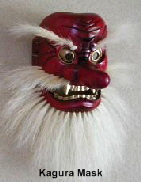 Tengu, aka Sarutahiko-no-Mikoto, Mask in Takachiho-cho, for Okagura Theater