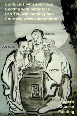 Three Sages Tasting Vinegar -- Modern Chinese Painting