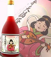 Modern. Benzaiten used on label of alcoholic drink.