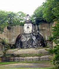 Sitting Byakue Kannon (White-Robed Kannon), near Soma City, Fukushima Prefecture, 26.4 meters high
