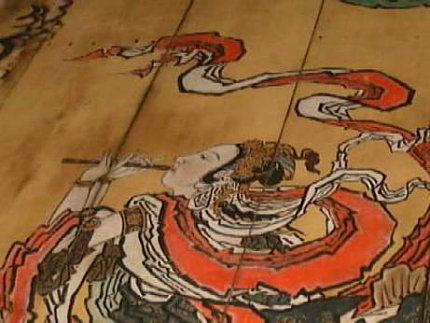 Ceiling Painting at Myoushinji Temple in Kyoto