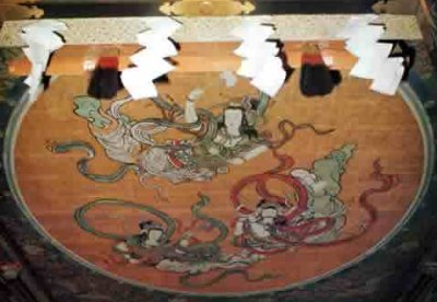Tennyo ceiling painting at Toushougu Shrine