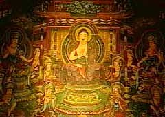 Chiko Mandala, Gangoji Temple in Nara, Early Kamakura Period