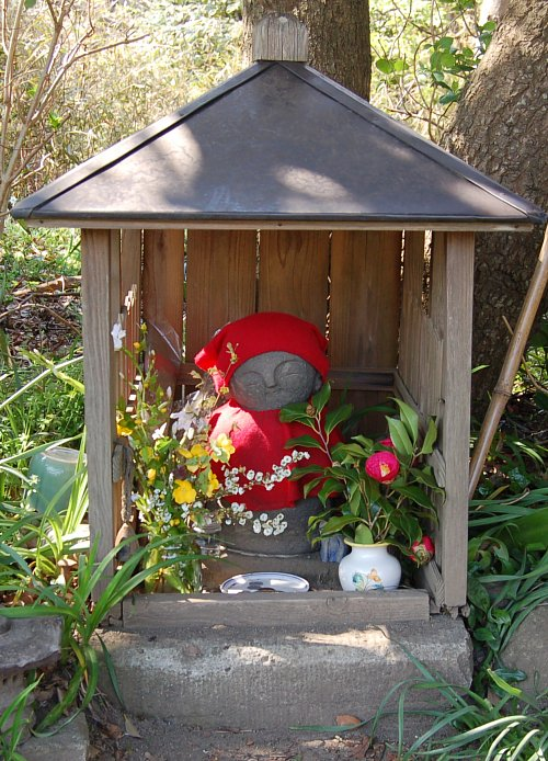 Cute Jizo midway on Kamakura's Kinubariyama Hiking Course