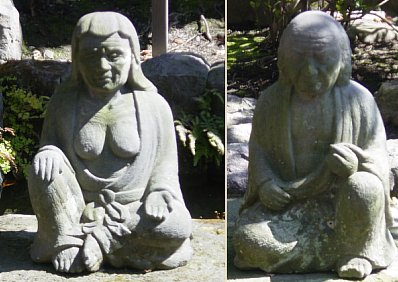 Daetsuba and Her Male Companion, at Hase Dera in Kamakura