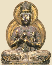 Dai Nichi, Heian Era 1176, at Enjyo-ji in Nara, courtesy Handbook on ViewingBuddhist Statues