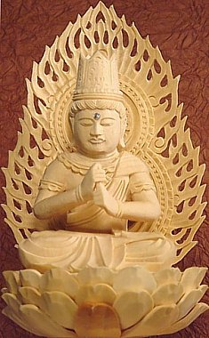 Closeup - Dainichi Buddha (Nyorai) sitting atop lotus -  available for online purchase !