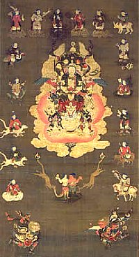 Dakiniten Mandala, Japan, Early Muromachi Period