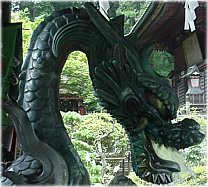 Dragon - Water Fountain, Shinto Shrine in Yamanakako
