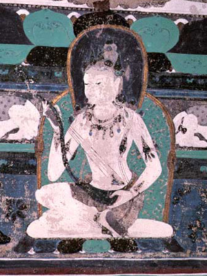 Apsara playing music (Dunhuang, China)