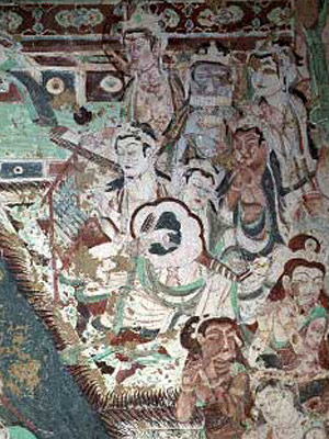 Apsaras playing music (Dunhuang, China)