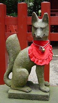 Fox at Tsurugaoka Hachimangu Shrine, Kamakura City