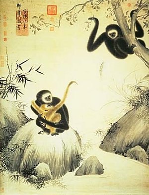 Gibbons at Play, 1427 AD, National Palace Museum, Taipei, Taiwan