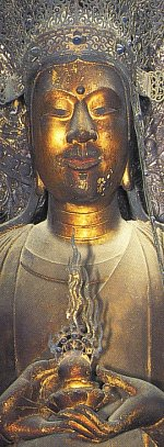 Kuse (Guze) Kannon, 7th Century, Horyu-ji Temple; Scholars believe this statue was made in the image of Prince Shotoku.