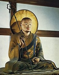 Hachiman in Guise of Buddhist Monk, 1201 AD, Todaiji Temple (Nara), Height 87.5cm, made by Kaikei